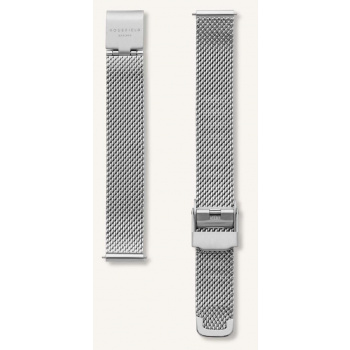 ROSEFIELD THE BOXY MESH SILVER STRAP 22MM