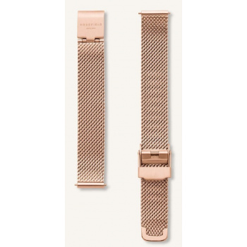 ROSEFIELD THE BOXY MESH ROSE GOLD STRAP 22MM
