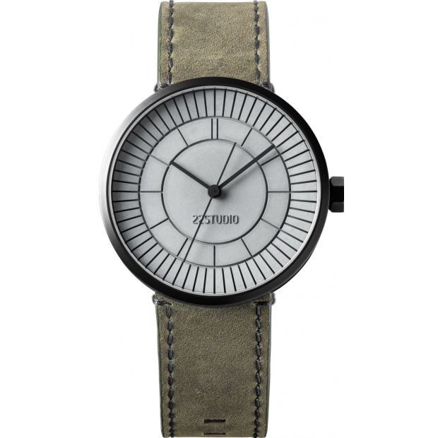 Hodinky 22 DESIGN STUDIO Concrete Sector Watch 40mm Chaos Edition