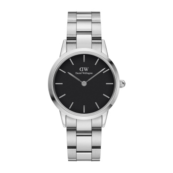 DANIEL WELLINGTON ICONIC LINK 32 mm Silver Black - DW00100206
