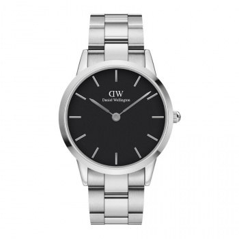 DANIEL WELLINGTON ICONIC LINK 36 mm Silver Black - DW00100204