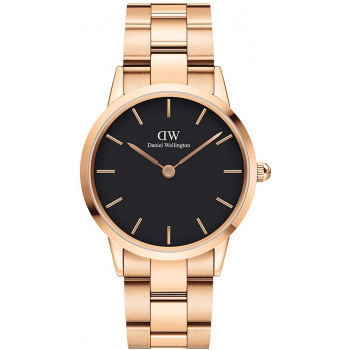 DANIEL WELLINGTON ICONIC LINK 32 mm Rose Gold Black - DW00100212
