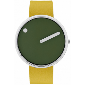 PICTO 40 MM FRESH OLIVE/CIRCULAR BRUSHED STEEL 43396-6120S