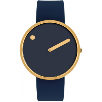 PICTO 40 MM MIDNIGHT BLUE/POLISHED GOLD 43318-0520G